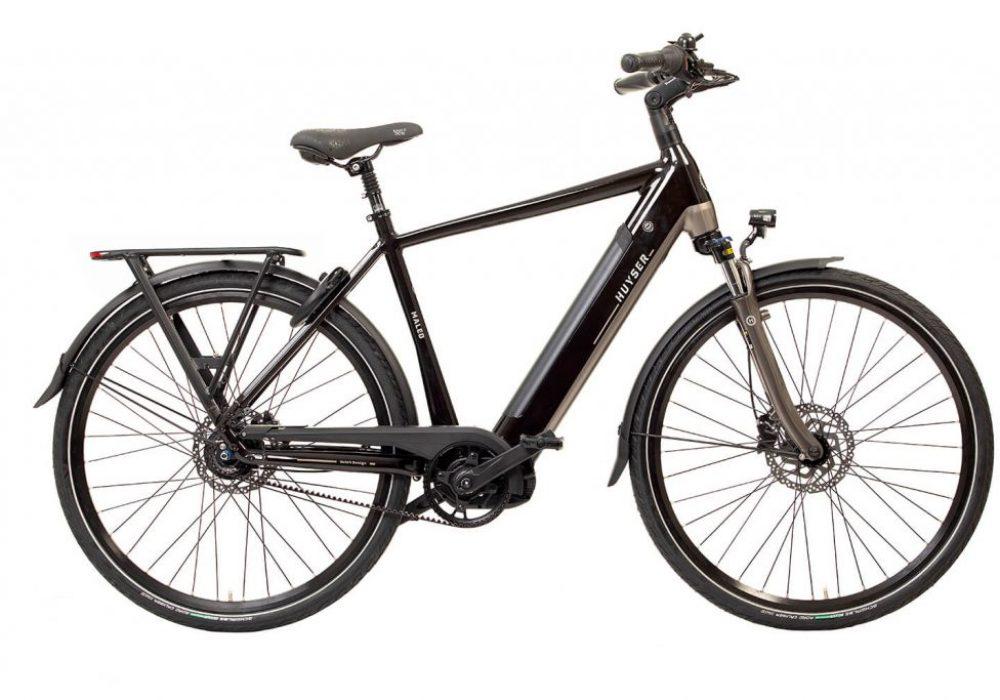 Huyser elektrische fiets Maleo men Romantic Black nieuwe drager