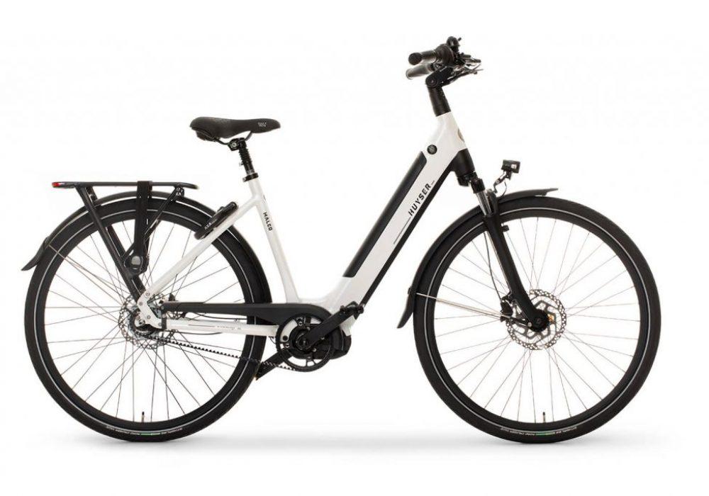 Huyser elektrische fiets Maleo sparkling white nieuwe drager